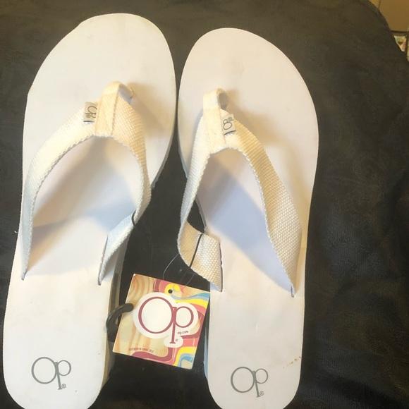 095efc9b569782 Op ocean pacific flip flops white